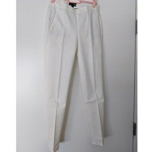 J. Crew white Martie cotton skinny ankle pants
